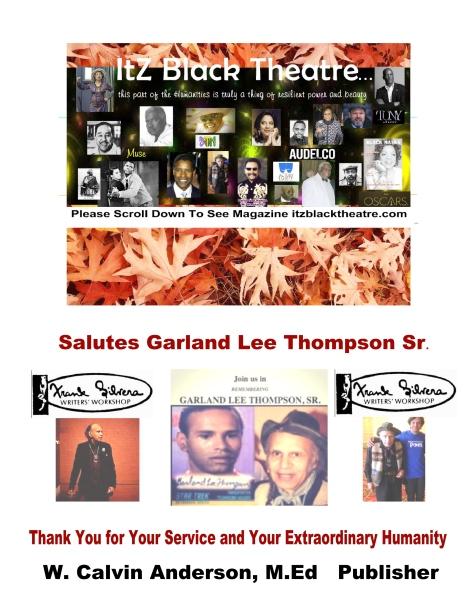 Ad Page Garland Sr. Itz Black Theatre  Calvin
